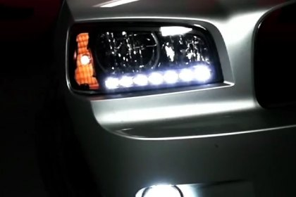 Spyder® - Headlights with LEDs DRL for Dodge charger 2006-2010 Installation