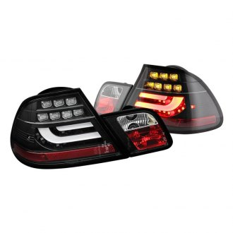 Spyder Black Red Fiber Optic Led Tail Lights