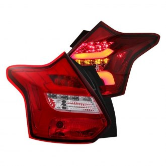 Spyder® - Chrome/Red Sequential Fiber Optic LED Tail Lights
