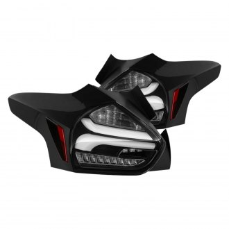Spyder Black Sequential Fiber Optic Led Tail Lights