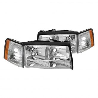Spyder® - Chrome Factory Style Headlights with Corner Parking Lights