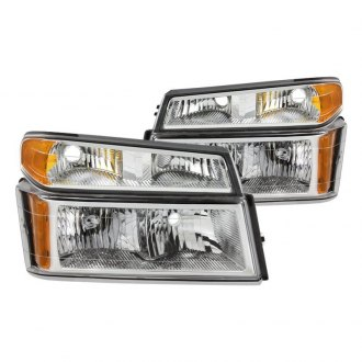 Spyder® - Chrome Factory Style Headlights with Bumper Lights