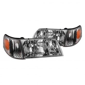 Spyder Chrome Euro Headlights With Corner Lights