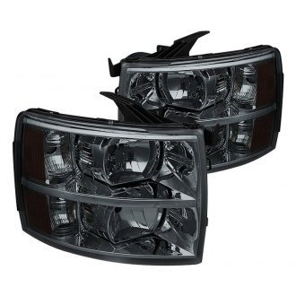 Spyder® - Chrome/Smoke Factory Style Headlights