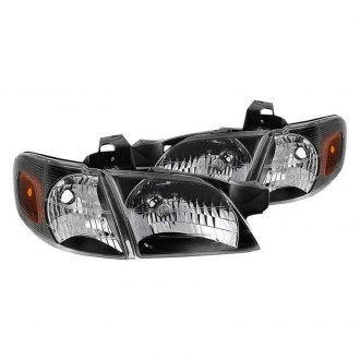 Spyder® - Black Factory Style Headlights with Corner Lights