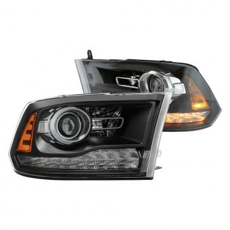 Spyder® - Black Factory Style Projector Headlights with LED Turn Signal