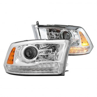 Spyder® - Chrome Factory Style Projector Headlights with LED Turn Signal