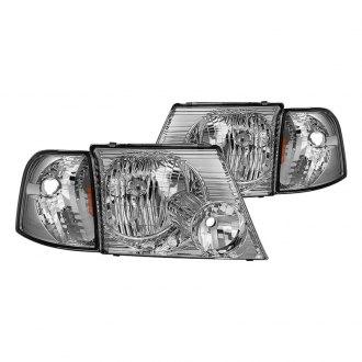 Spyder Chrome Factory Style Headlights With Corner Lights