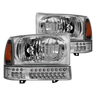 Spyder® - Chrome Factory Style Headlights with LED Turn Signal/Parking Lights