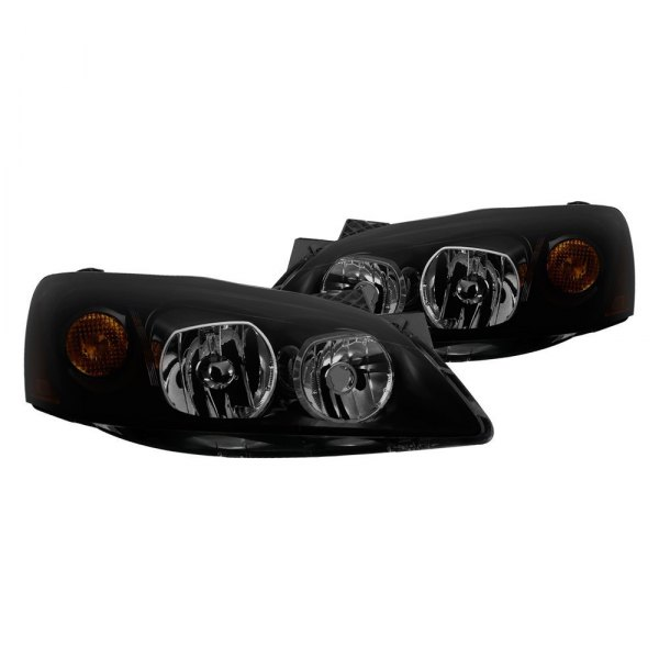 Spyder® - Black/Smoke Factory Style Headlights with Amber Turn Signal