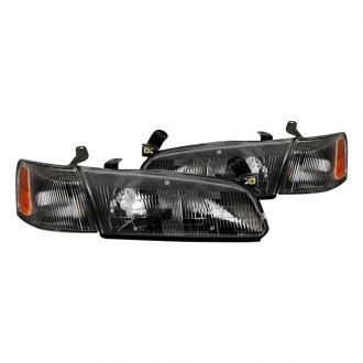 Spyder Black Factory Style Headlights With Corner Lights