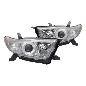Spyder® - Driver and Passenger Side Chrome Factory Style Headlights