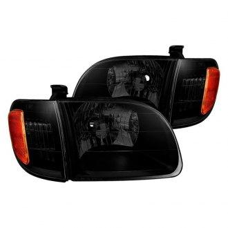 Spyder Black Smoke Factory Style Headlights