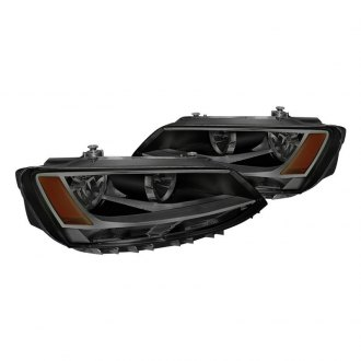 Spyder Black Smoke Factory Style Headlights