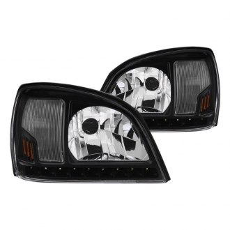 Spyder® - Black Euro Headlights with LED DRL