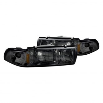 Spyder® - Chrome/Smoke Euro Headlights with Parking LEDs