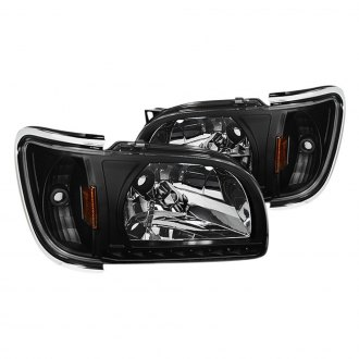 Spyder® - Black Euro Headlights with Parking LEDs