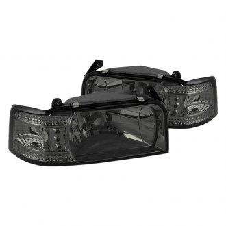 Spyder Chrome Smoke Euro Headlights With Parking Leds