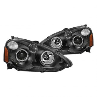 Spyder® PRO-JH-ARSX02-HL-BK - Black Halo Projector Headlights with Parking LEDs