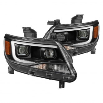 Spyder® - Black U-Bar Projector Headlights with LED Turn Signal
