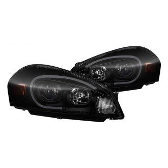 Spyder Black Smoke Led Drl Bar Projector Headlights