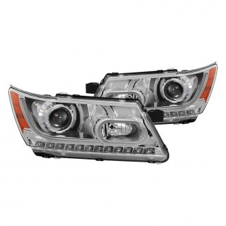 Spyder® - Chrome DRL Bar Halo Projector Headlights with LED Turn Signal