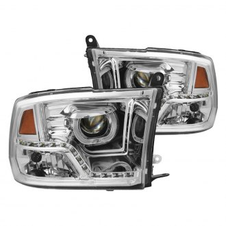Spyder® - Chrome Halo Projector Headlights with Parking LEDs