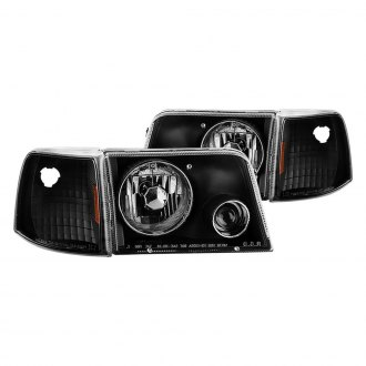 Spyder® - Black Projector Headlights with Corner Lights