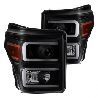 Spyder® - Black/Smoke DRL Bar Projector LED Headlights