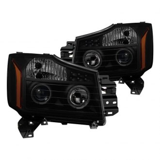 Spyder® - Black/Smoke Halo Projector Headlights with Parking LEDs