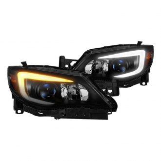 Spyder® - Black/Smoke Sequential LED DRL Bar Projector Headlights