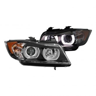 Spyder® - Black/Chrome LED DRL Bar Projector Headlights