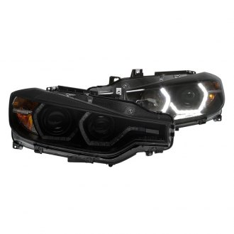 Spyder® - Black/Smoke Projector Headlights with LED DRL