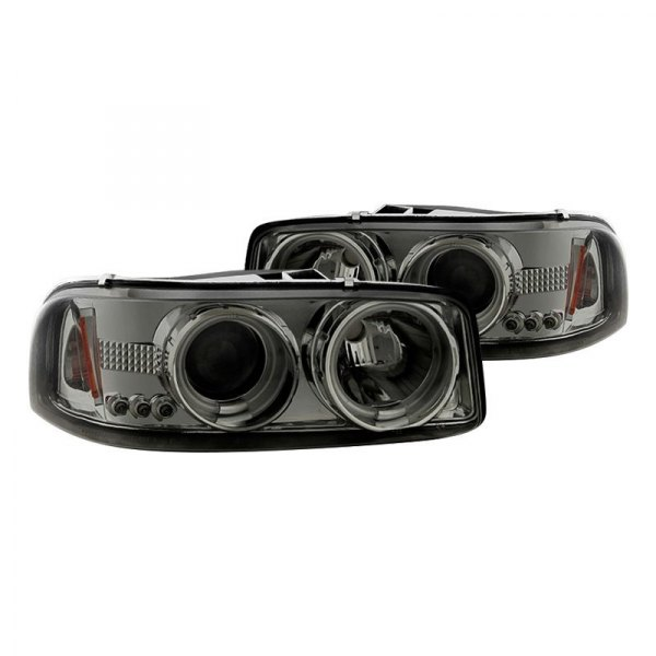 Spyder® - Chrome/Smoke CCFL Halo Projector Headlights with Parking LEDs