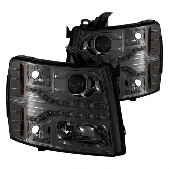 Spyder® - Chrome/Smoke Projector Headlights with Parking LEDs