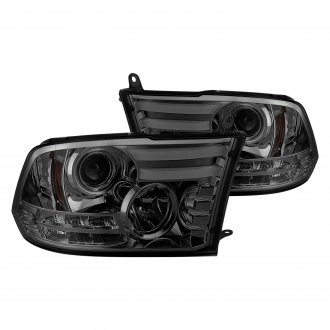 Spyder® - Chrome/Smoke DRL Bar Projector Headlights with LED Turn Signal