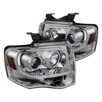 Spyder Chrome Led Drl Bar Projector Headlights