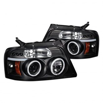 Spyder® - Black LED DRL Bar Halo Projector Headlights