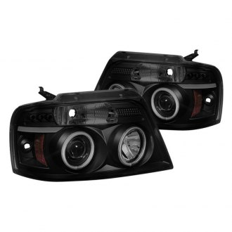 Spyder® - Black/Smoke LED DRL Bar Halo Projector Headlights