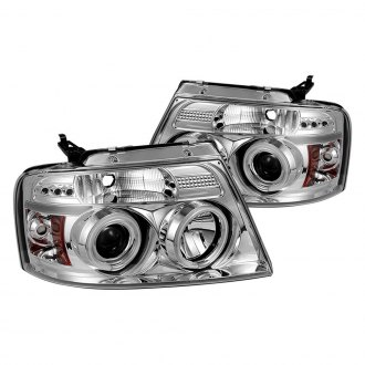Spyder® - Chrome LED DRL Bar Halo Projector Headlights