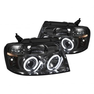 Spyder® - Chrome/Smoke LED DRL Bar Halo Projector Headlights