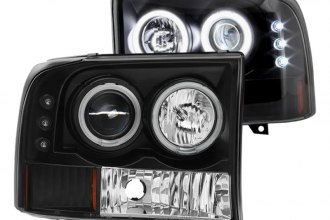 Spyder® - Black CCFL Halo Projector Headlights with Parking LEDs