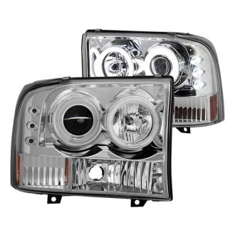 Spyder® - Chrome CCFL Halo Projector Headlights with Parking LEDs