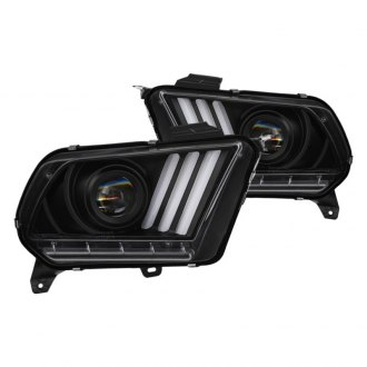 Spyder® - Black Sequential LED DRL Bar Projector Headlights