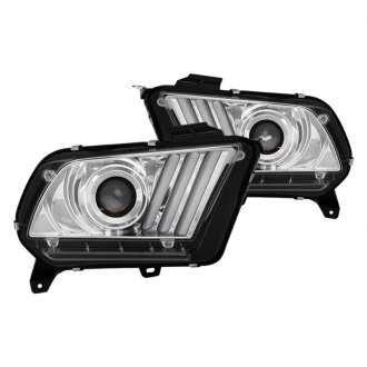 Spyder® - Chrome Sequential LED DRL Bar Projector Headlights