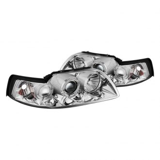 Spyder® - Chrome LED Halo Projector Headlights