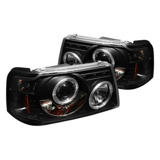 Spyder Black Halo Projector Headlights With Parking Leds