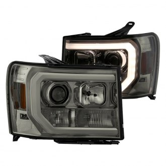Spyder® - Chrome/Smoke LED DRL Bar Projector Headlights