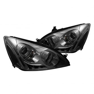Spyder® - Chrome/Smoke Halo Projector Headlights with LED DRL