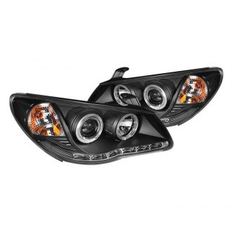 Spyder® - Black Halo Projector Headlights with Parking LEDs